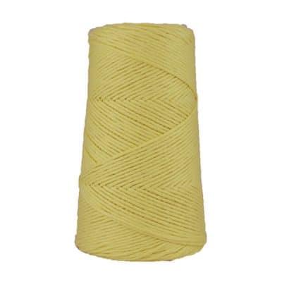 Cordon - corde - coton peigné suprême - fil de 2mm - jaune mimosa - macramé - crochet - tricot - tissage