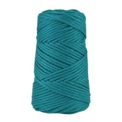 Cordon - corde - coton peigné suprême - fil de 4mm - bleu paon - macramé - crochet - tricot - tissage