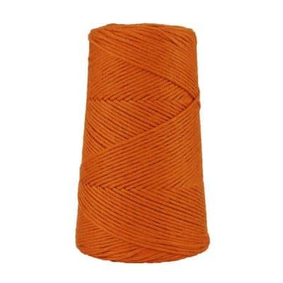 Cordon - corde - coton peigné suprême - fil de 2mm - orange brûlée - macramé - crochet - tricot - tissage