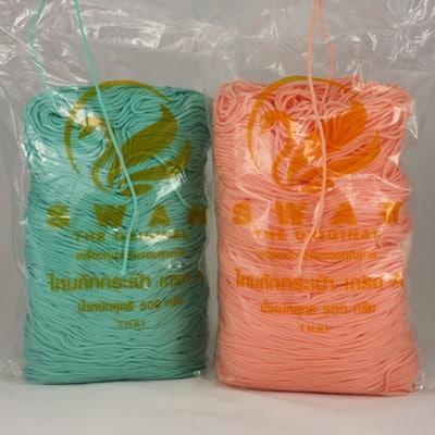 Cordon Swan Thai vendu en sachet - Corde Thailandaise - Fil de 2mm - Tricot - Crochet - Création de sacs