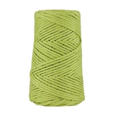 Cordon - corde - coton peigné suprême - fil de 4mm - vert anis - macramé - crochet - tricot - tissage