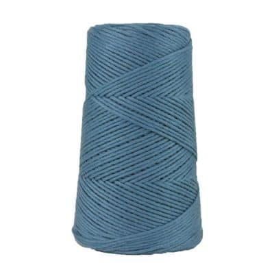 Cordon - corde - coton peigné suprême - fil de 2mm - bleu guède - macramé - crochet - tricot - tissage