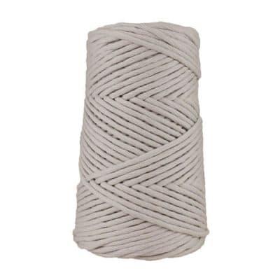 Cordon coton peigné suprême - 4 mm - Gris cendré