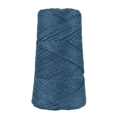 Fil de lin rustique -2 mm - Bobine - Ficelle - Bleu jean - Macramé, tricot, crochet
