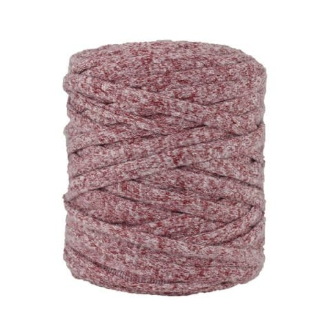 Trapilho, trapillo, tshirt yarn, bobine, pelote, chiné bordeaux