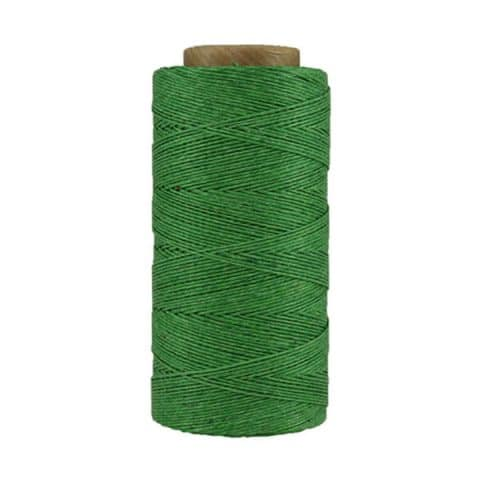 Fil de lin ciré - Vert malachite - Bobine 100% lin - Micro-macramé, bijoux, couture, reliure, maroquinerie