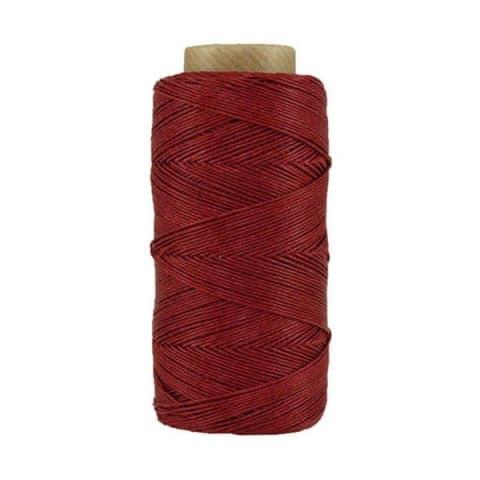 Fil de lin ciré - Bordeaux - Bobine 100% lin - Micro-macramé, bijoux, couture, reliure, maroquinerie