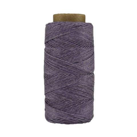 Fil de lin ciré - Glycine- Bobine 100% lin - Micro-macramé, bijoux, couture, reliure, maroquinerie
