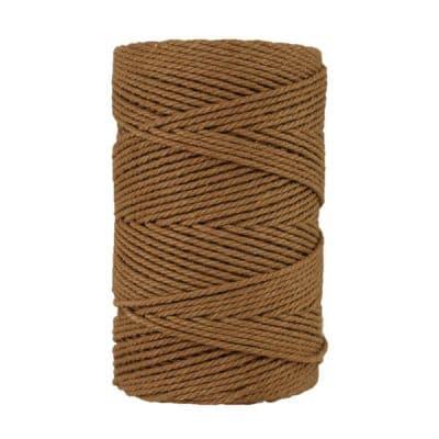 Macramé - corde - ficelle - coton- cordon - fil 3mm - marron clair havane