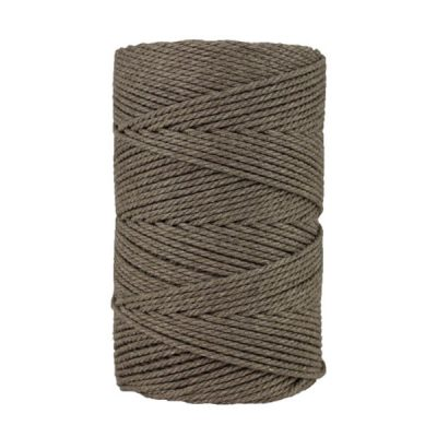Macramé - corde - ficelle - coton- cordon - fil 3mm - taupe