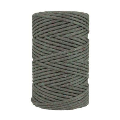 Cordon - corde - coton peigné- fil de 4mm - gris chiné- macramé - crochet - tricot - tissage