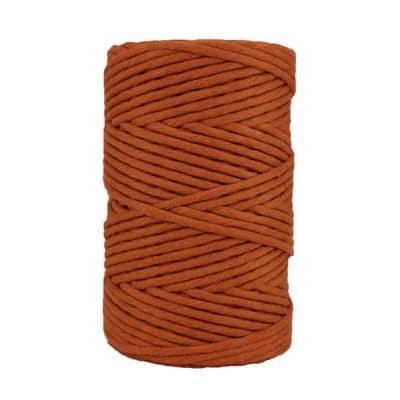 Cordon - corde - coton peigné- fil de 4mm - marron caramel - macramé - crochet - tricot - tissage
