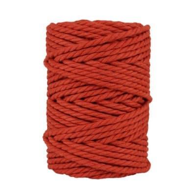 Macramé - corde - ficelle - coton- cordon - fil 7mm - rouge tomette