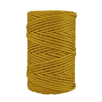 Cordon - corde - coton peigné- fil de 4mm - jaune moutarde - macramé - crochet - tricot - tissage