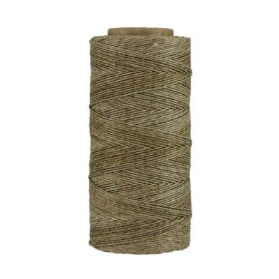Fil de lin ciré - Ficelle - Bobine 100% lin - Micro-macramé, bijoux, couture, reliure, maroquinerie