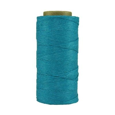 Fil de lin ciré - Bleu électrique - Bobine 100% lin - Micro-macramé, bijoux, couture, reliure, maroquinerie