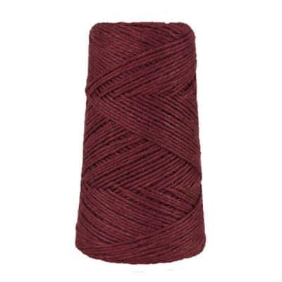 Fil de lin rustique -2 mm - Bobine - Ficelle - Aubergine - Macramé, tricot, crochet