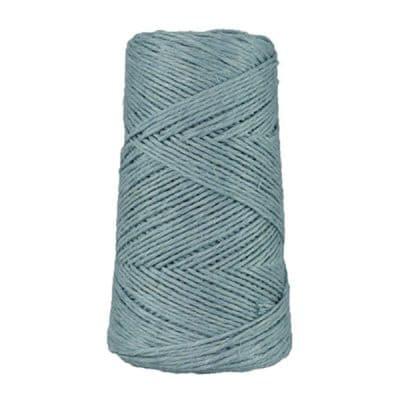 Fil de lin rustique -2 mm - Bobine - Ficelle - Bleu horizon - Macramé, tricot, crochet
