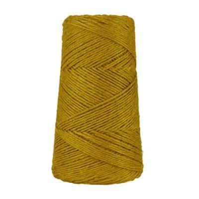 Fil de lin rustique -Moutarde - 2 mm - Bobine - Ficelle - Macramé, tricot, crochet