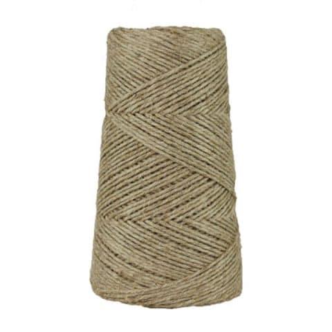 Fil de lin rustique - Naturel - 2 mm - Bobine - Ficelle - Macramé, tricot, crochet