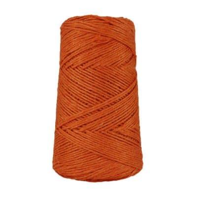 Fil de lin rustique -Orange brûlée - 2 mm - Bobine - Ficelle - Macramé, tricot, crochet