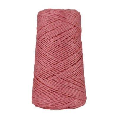 Fil de lin rustique -2 mm - Bobine - Ficelle - Rose - Macramé, tricot, crochet