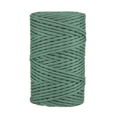 Cordon - corde - coton peigné- fil de 4mm - Vert prasin - macramé - crochet - tricot - tissage