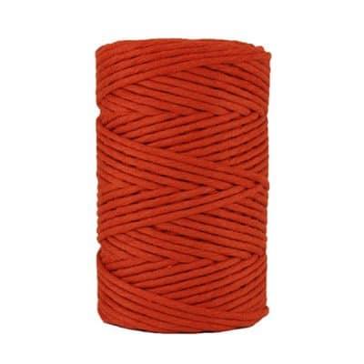 Cordon - corde - coton peigné- fil de 4mm - Rouge paprika - macramé - crochet - tricot - tissage