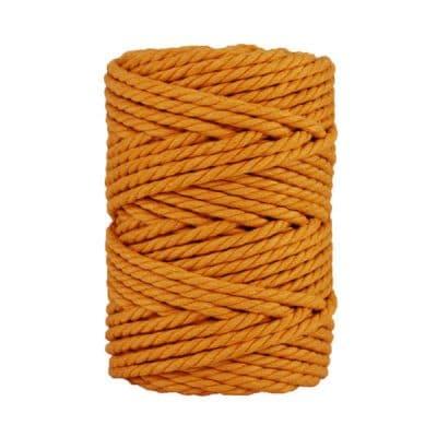 Macramé - corde - ficelle - coton- cordon - fil 7mm - Jaune miel