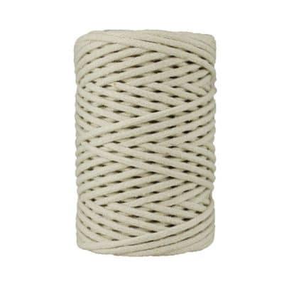 Cordon coton tressé 4 mm. Bobine de corde de 500 gr pour macramé, couture, customisation, décoration