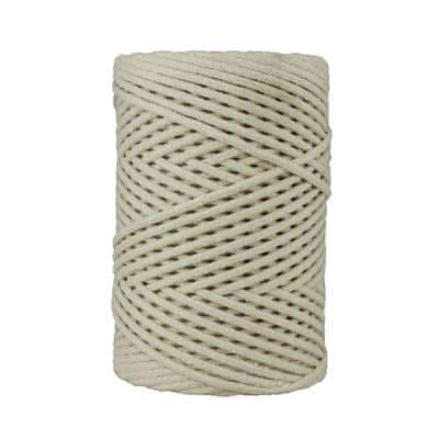 Cordon coton tressé 3 mm. Bobine de corde de 500 gr pour macramé, couture, customisation, décoration