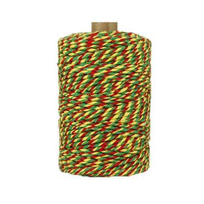 Ficelle Baker Twine - 2mm - Vert rouge jaune