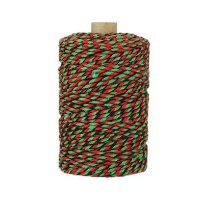 Ficelle Baker Twine - 2mm - Vert rouge noir