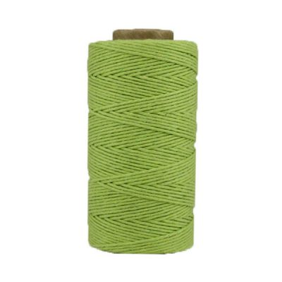 Coton ciré - Vert anis
