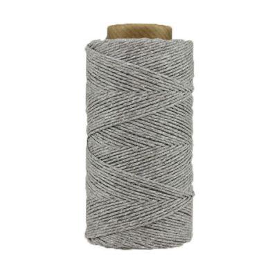 Coton ciré - Gris acier