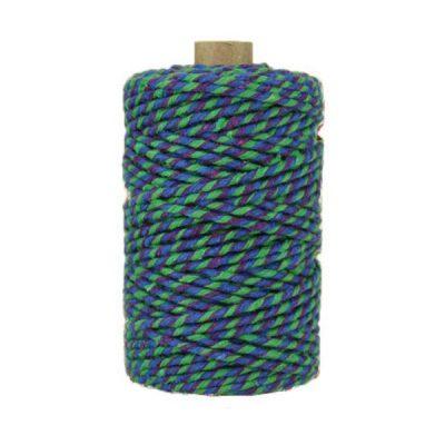 Ficelle Baker Twine - 3mm - Bobine - Bleu/violet/vert