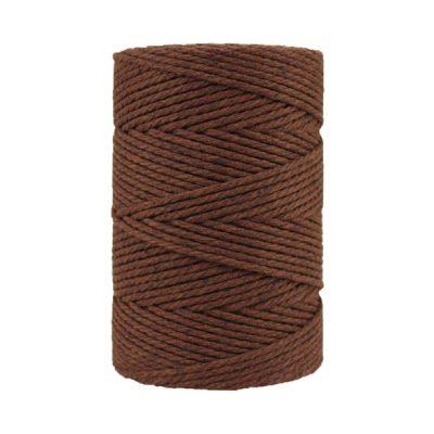 Corde macramé artisanale - Coton - Cordon - Ficelle - Fil 3 mm - Châtaigne