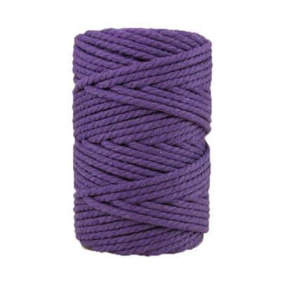 Corde macramé artisanale - Cordon - Ficelle - Fil de coton torsadé 4 mm - Améthyste