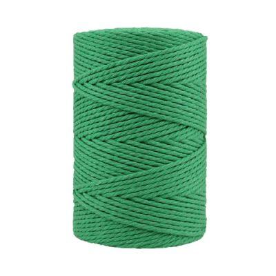 Corde macramé artisanale - Coton - Cordon - Ficelle - Fil 3 mm - Vert émeraude