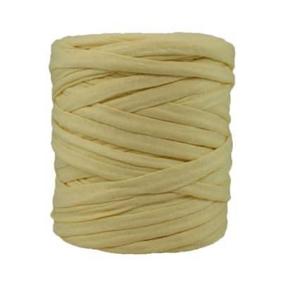 Trapilho jaune pâle - Bobine, pelote de t-shirt yarn, Hooked, zpagetti, trapillo. Fil de tissu recyclé en jersey pour crochet, tricot, tissage, macramé, bijoux