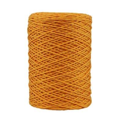 Coton bitord - Barbante - Fil de coton - Jaune
