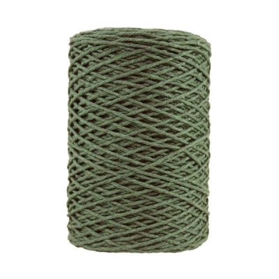 Coton bitord - Barbante - Fil de coton - Vert kaki
