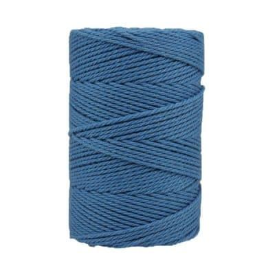 Macramé - bleu-azur