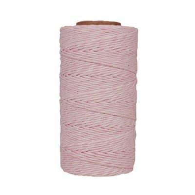 Fil de coton ciré - Rose et blanc
