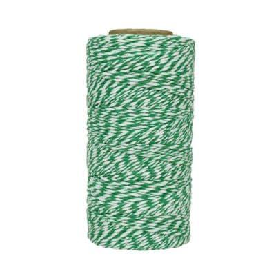 Fil de coton ciré - Vert et blanc