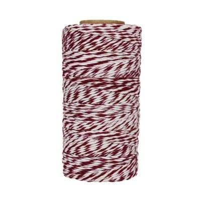 Fil de coton ciré - Bordeaux et blanc