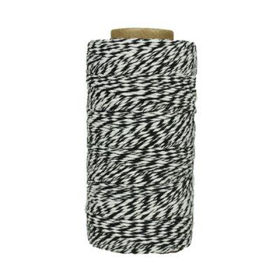 Fil de coton ciré - Noir et blanc