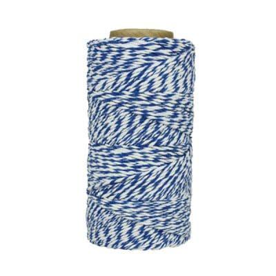 Fil de coton ciré - Bleu et blanc