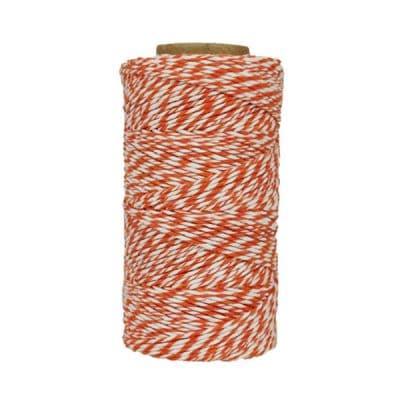 Fil de coton ciré - Orange et blanc
