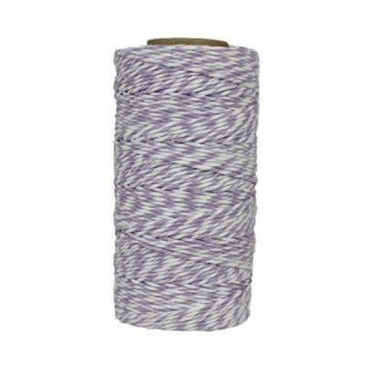 Fil de coton ciré - Violet et blanc